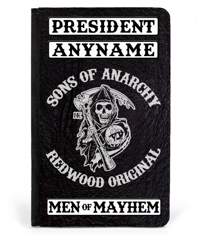 SAMCRO Sons of Anarchy Personalised President Men of Mayhem Passport Protector
